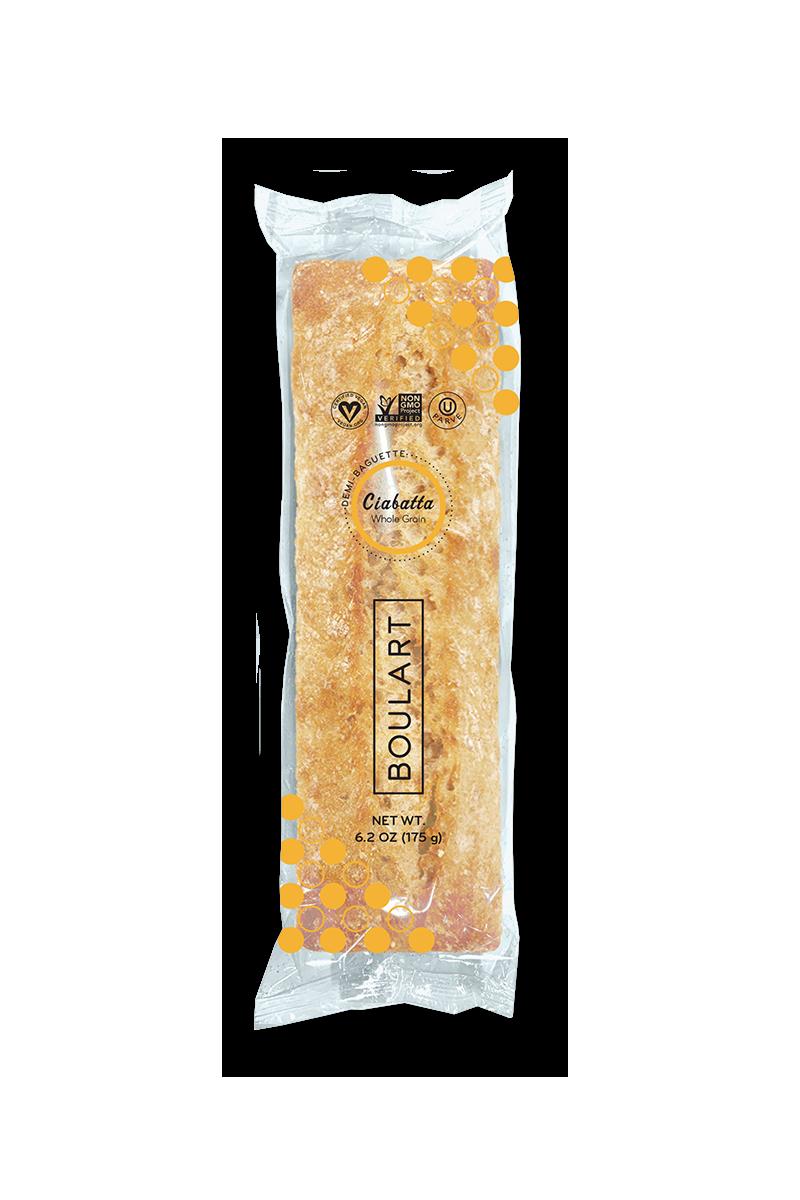 Pain scellé - Demi-baguette grains entiers emballée